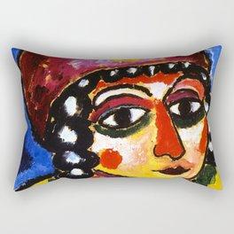 """Alexej von Jawlensky """"Barbarian Princess"""" 1912 Rectangular Pillow"""