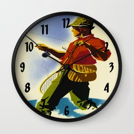 Colorado Fly Fishing Travel Wall Clock