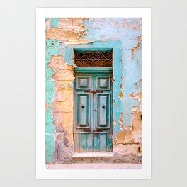 Blue Door in Antigua, Guatemala Kunstdrucke