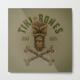 Tiki Bones Metal Print