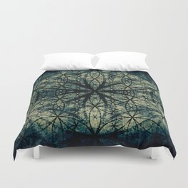 Sacred Geometry for your daily life -  ESOTERIC FLOWER OF LIFE Duvet Cover