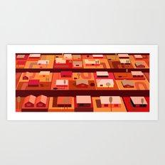 Downtown Desert (Horizonatal) Art Print