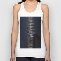 san diego Tank Tops featuring San Diego Skyline @ Night by Liminal State