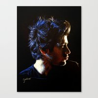 zayn Canvas Prints featuring Blue Zayn by Cyrilliart