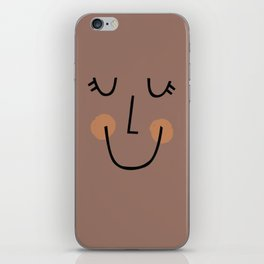 Winky Smiley Face in Brown iPhone Skin