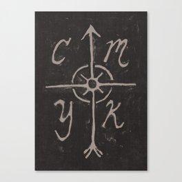 CMYKompass Canvas Print