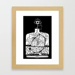 The turtle in the bottle Framed Art Print