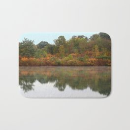 Autumn Stream Photography Bath Mat
