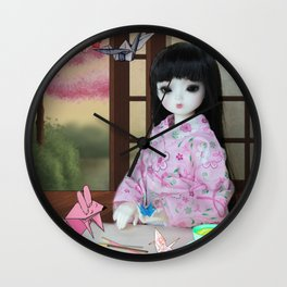 ** Meiling is going to spend Saturday making her favourite hobby: Origami animals. ** Wall Clock
