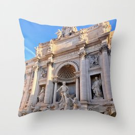 Trevi Fountain in Rome Throw Pillow