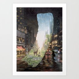 Recover - Brushstrokes in Time Art Print