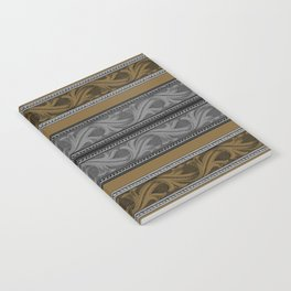 Fret Stripe in Black and Brown Notebook