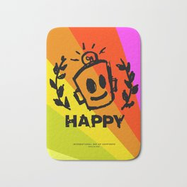 International Day of HAPPINESS Bath Mat