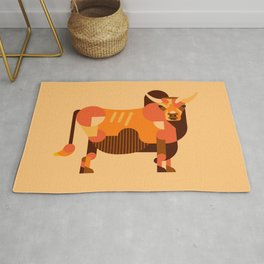 Bull Orange Rug