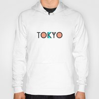 typo Hoodies featuring Tokyo Typo by Rothko