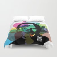 steve jobs Duvet Covers featuring Lab No. 4 - Steve Jobs Inspirational Typography Print Poster by Lab No. 4