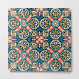Native American Fashion Pattern Eleven Metal Print