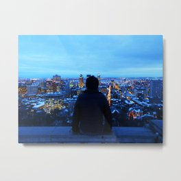 The guy at Mont Royal - Montreal, Canada Metal Print