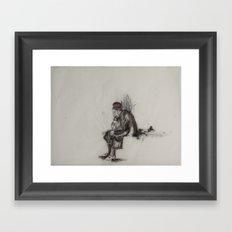 weary woman Framed Art Print