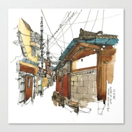 vintige city-seoul Canvas Print
