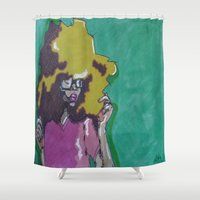 lip Shower Curtains featuring Lip Sync by Stephon Daniels