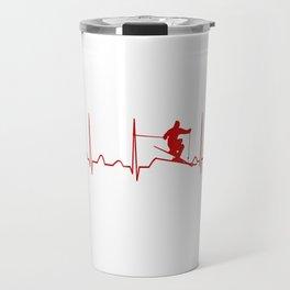 SKIING MAN HEARTBEAT Travel Mug