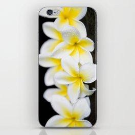 Plumeria obtusa Singapore White iPhone Skin