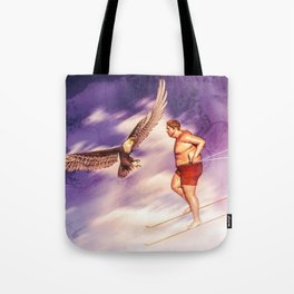 American Bold Eagle VS Summer Skier Tote Bag