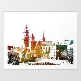 Cracow Wawel Art Print