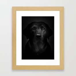 I met a girl (Black and white version) Framed Art Print