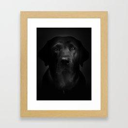 I met a girl (Black and white version) Framed Art Print
