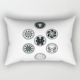 Factions black & white Rectangular Pillow
