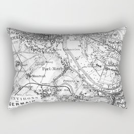 Vintage Paris Map Rectangular Pillow