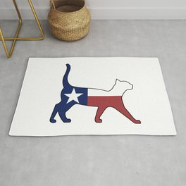 State of Texas Flag for Cat Lovers Rug