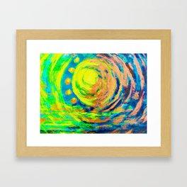Sunburst at Sunset Framed Art Print
