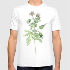Flowers For Dad White MEDIUM Mens Fitted Tee