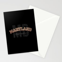 Maryland Vintage Retro Collegiate Stationery Cards