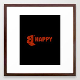 B-HAPPY #2 Framed Art Print