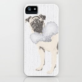 Pug in a Ruff iPhone Case