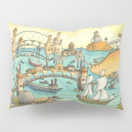 Ship City Pillow Sham