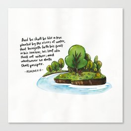 Psalm 1:3 Canvas Print