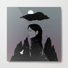 If My Dark Cloud Were Full of Stars (I'd Let It Hang Over Me) Metal Print