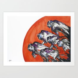 Out of A Rising Sun  Art Print