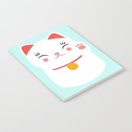 Lucky happy Japanese cat Notebook