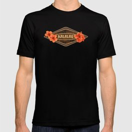 Kalalau Tapa Hawaiian Hibiscus Vintage Inspired Print T-shirt