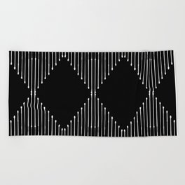 Geo / Black Beach Towel
