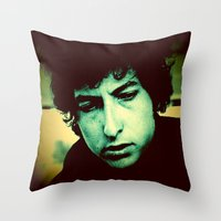 dylan Throw Pillows featuring Dylan by SLIDE