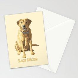 Dog Mom Yellow Labrador Retriever Stationery Cards