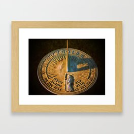 Old Father Time Sundial Framed Art Print