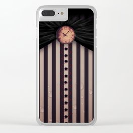 White Rabbit's Clock Clear iPhone Case